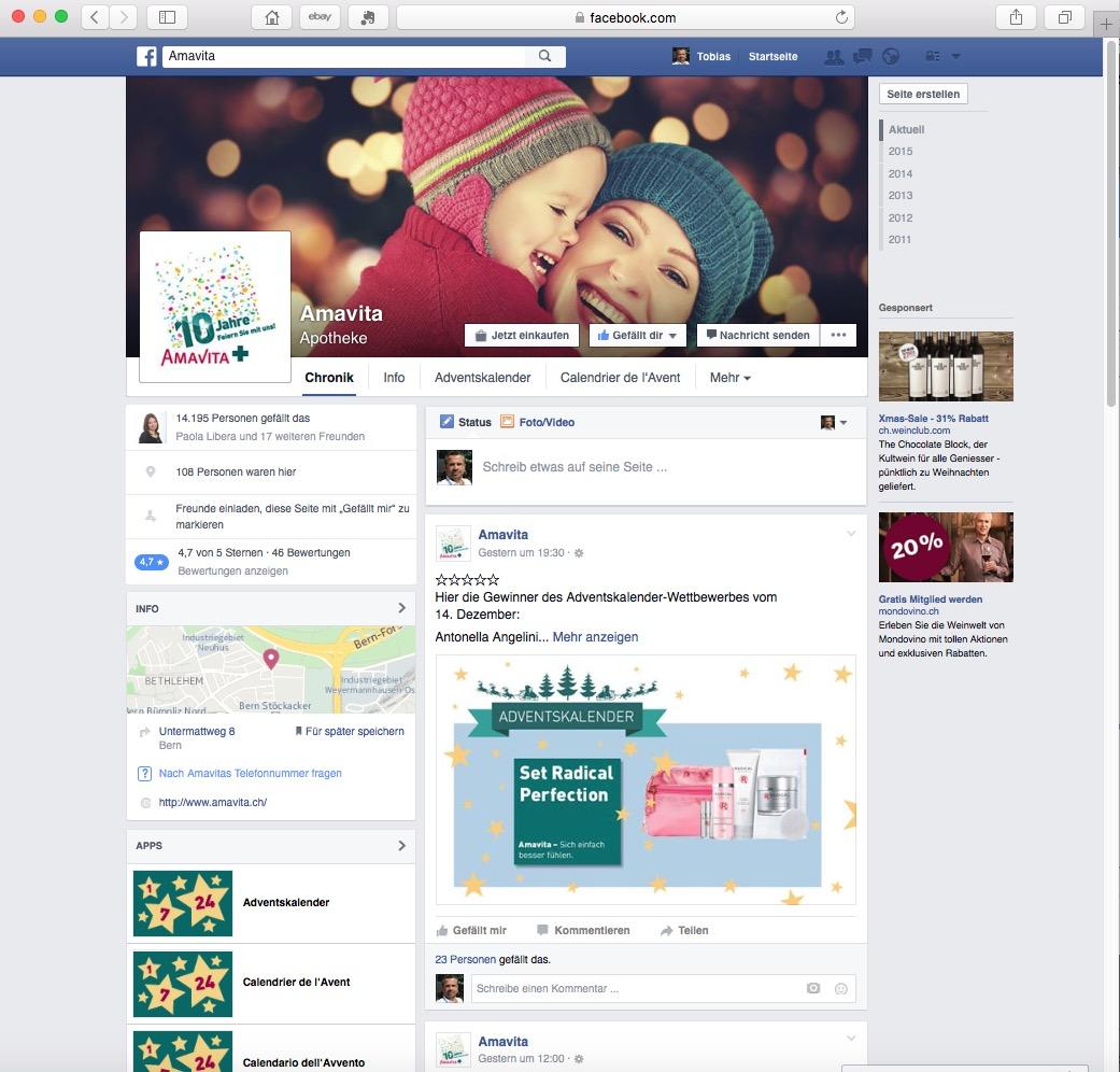 Amavita Facebook 2015