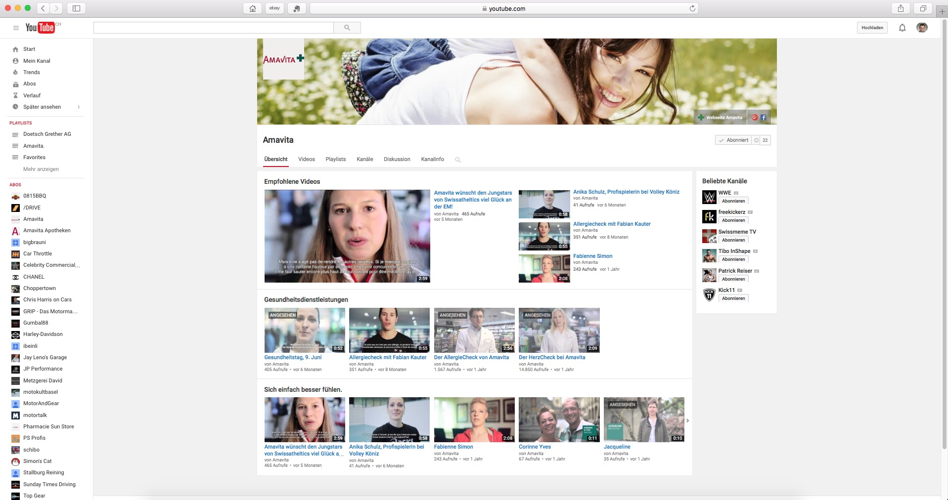 Amavita youtube 2015