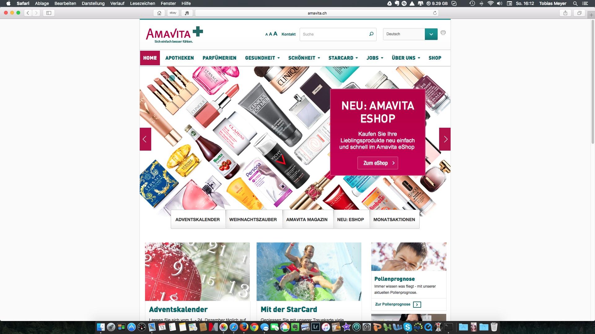 Amavita Einstiegsseite 2014