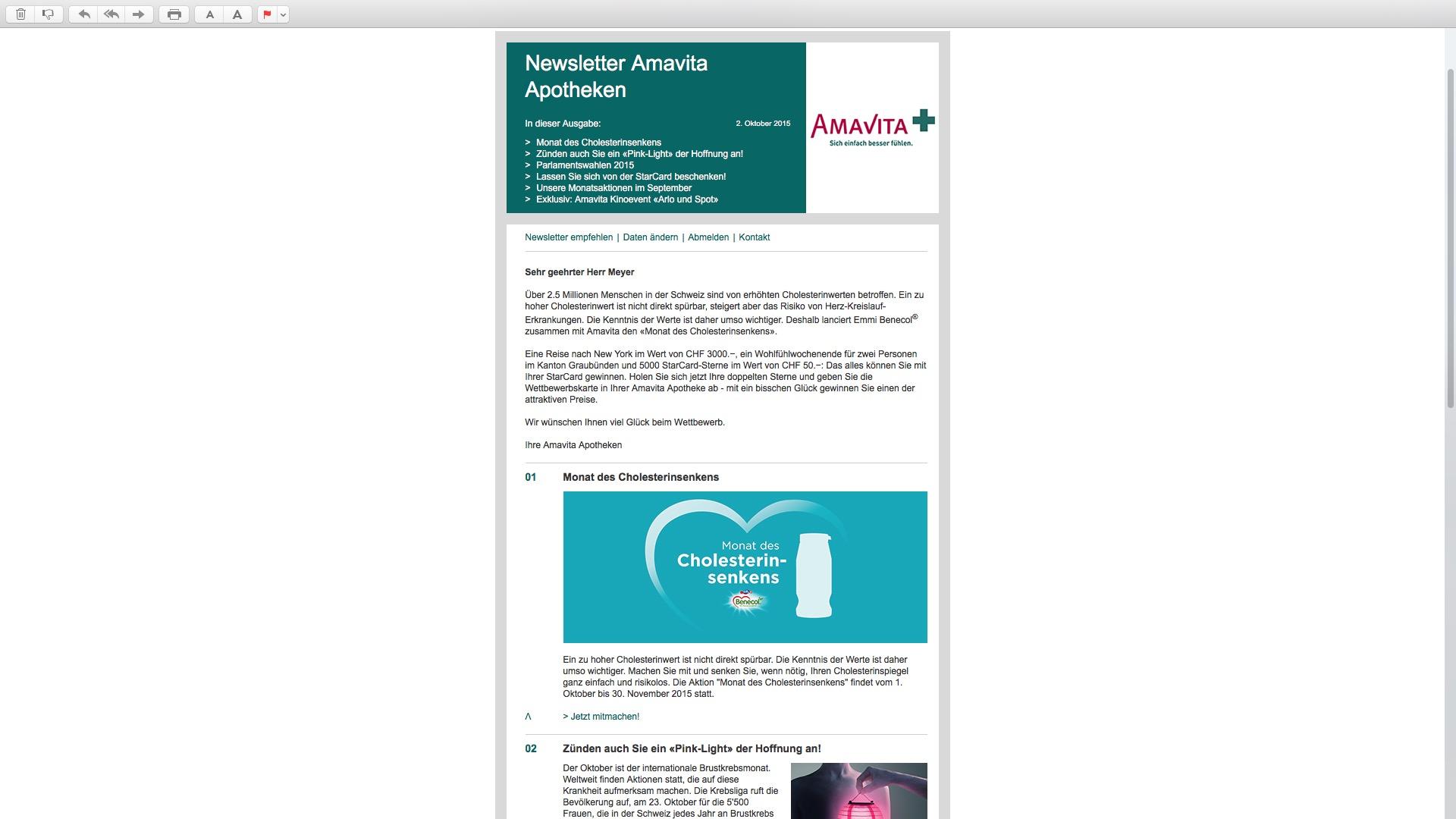 Amavita Newsletter