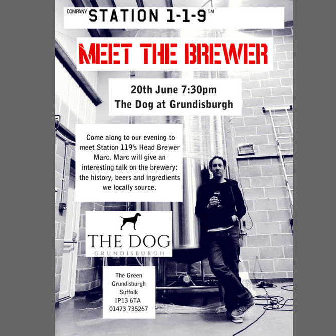 Meet the Brewer Evening with             Station 1-1-9 Brewery 20th June