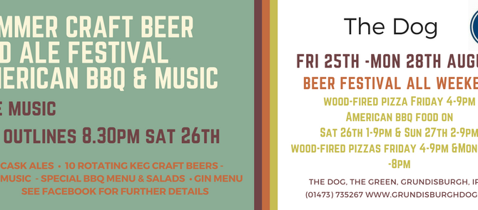 American BBQ and summer beer festival AUGUST BANK HOL weekend