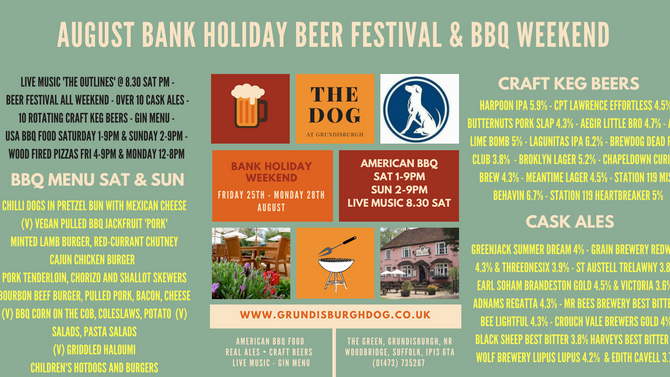 Beers and bbq menu announced for BH Weekend