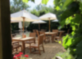 Suffolk country pub outside seating