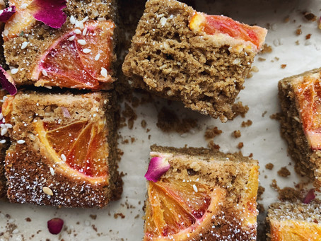 Blood Orange Tahini Cake