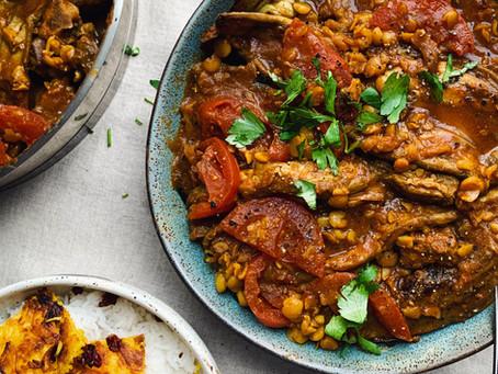Gheimeh Bademjoon - Aubergine & Yellow Split Pea Persian Stew