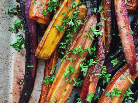 Balsamic Honey-Roasted Carrots