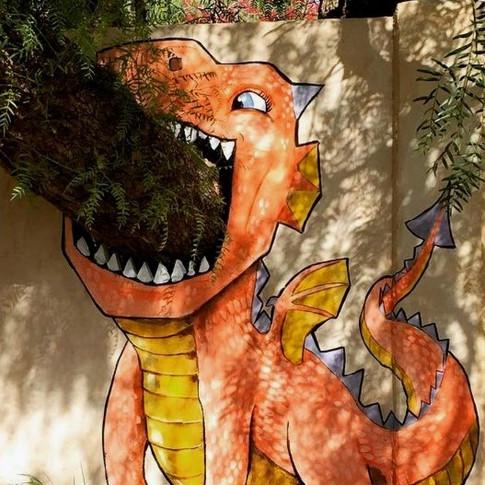 Tree Dragon Mural Private commission