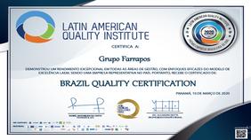 Grupo Farrapos é EMPRESA DO ANO 2020 pela qualidade e performance excepcionais de sua gestão