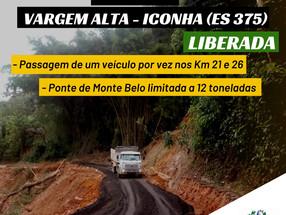 Situação das rodovias do Espírito Santo após chuvas e enchentes