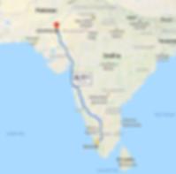 the Roaming Goats Rickshaw Run Route