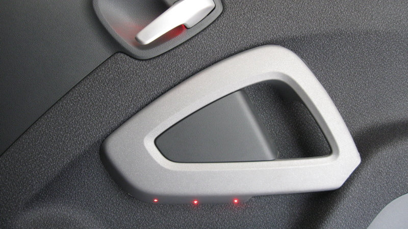 5mm red Leds lights used in a custom door panel lighting job for a  Smart Car Customer