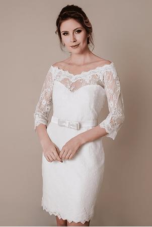 Vestido de Noiva Curto Michele