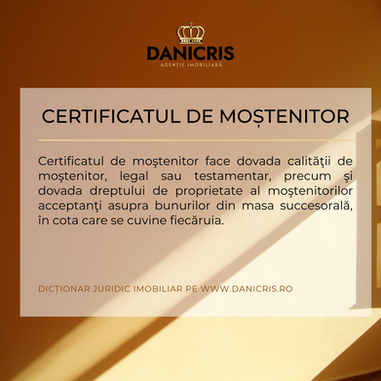 Certificatul de Mostenitor