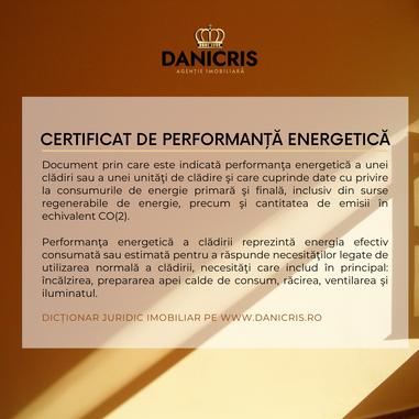 Certificatul de performanță energetică