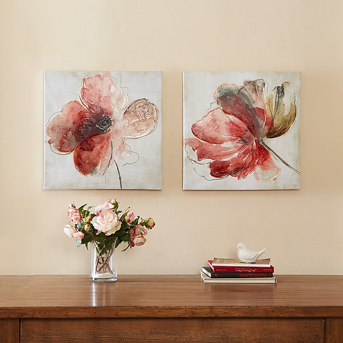 Lovely Blooms Hand Embellished Canvas 2 Piece Set By Madison Park