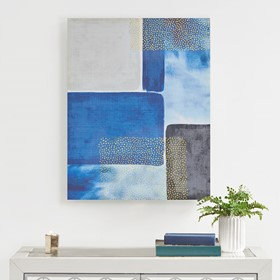 Shape & Scope Printed Canvas with Gold Foil  by Urban Habitat