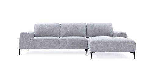 Divani Casa Arthur Modern Grey Fabric Sectional Sofa