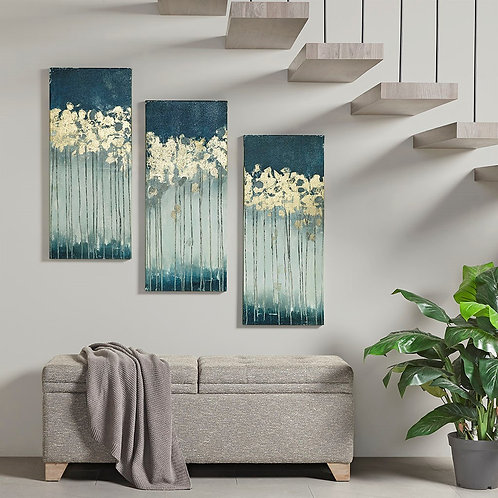 Midnight Forest Gel Coat Canvas with Gold Foil Embellishment By Madison Park