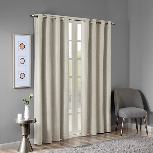 Maya Printed Heathered Blackout Grommet Top Curtain Panel By SunSmart