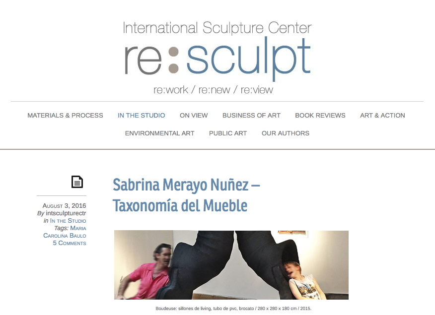 REVISTA SCULPTURE