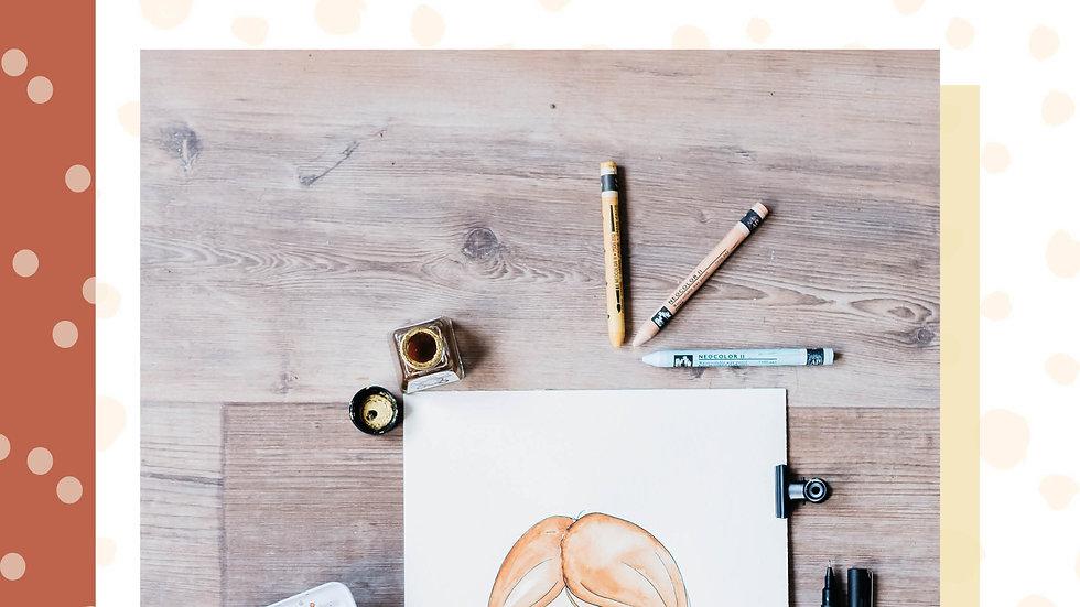 E-book 'Stap voor stap portret tekenen'