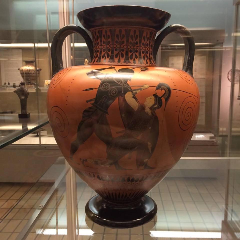 Achilles slays Penthesilea