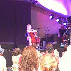 Cellist Linnea Olsson performs at Womad