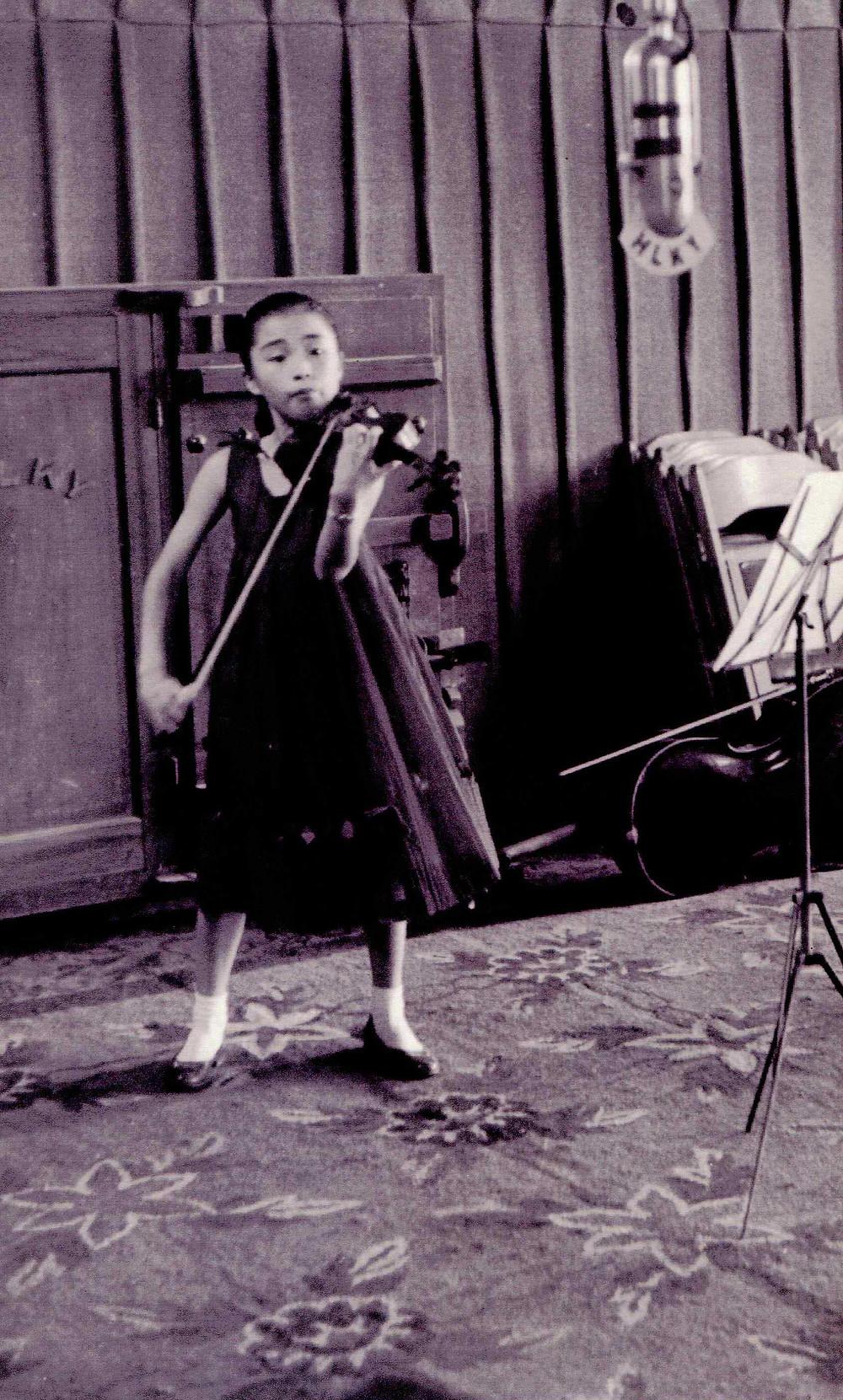 Kyung Wha Chung aged 13
