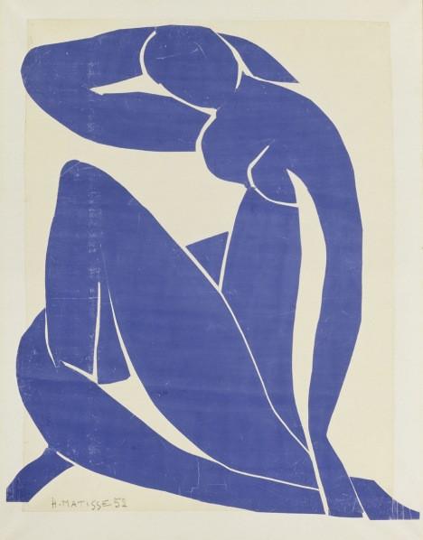 Blue Nude (II) 1952 Centre Pompidou, MNAM-CCI, Dist. RMN-Grand Palais / Droits réservés © Succession Henri Matisse / DACS 2013