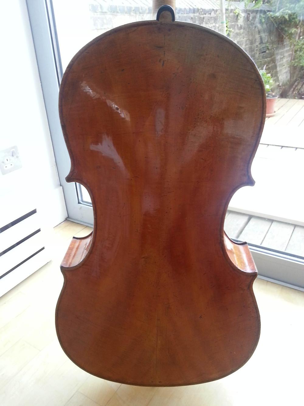 'Simpson' Guadagnini cello back
