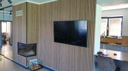 #2212 NATURAL OAK BLACK MDF ONLY DECOR