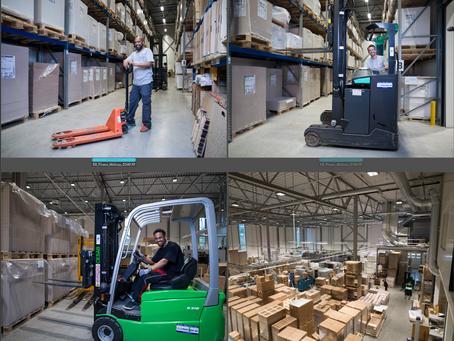 Hos Moltzau Packaging for SG Finans - lager og jekk