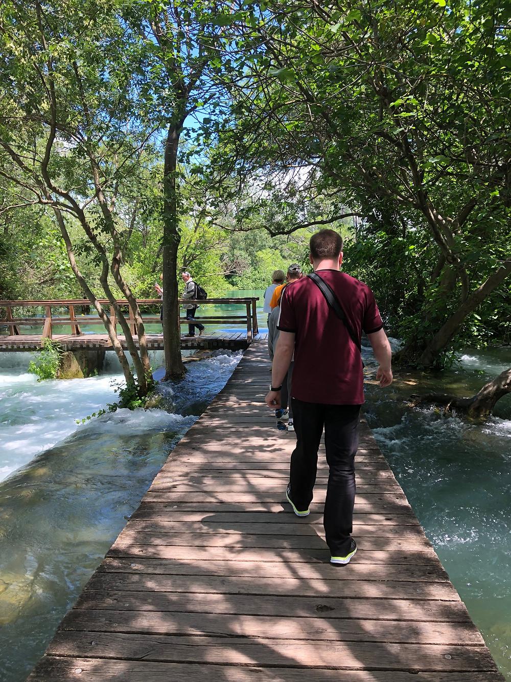 Wanderweg im Krka Nationalpark Kroatien