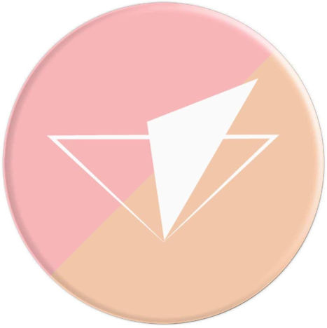 Pastel Geometric Peach - PopSockets Grip and Stand for Phones and Tablets