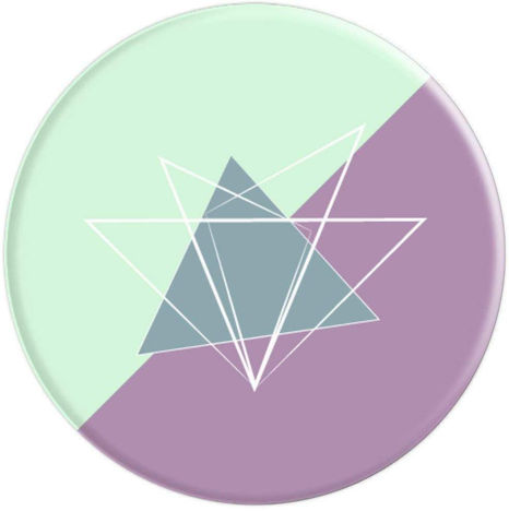 Pastel Geometric Flower - PopSockets Grip and Stand for Phones and Tablets