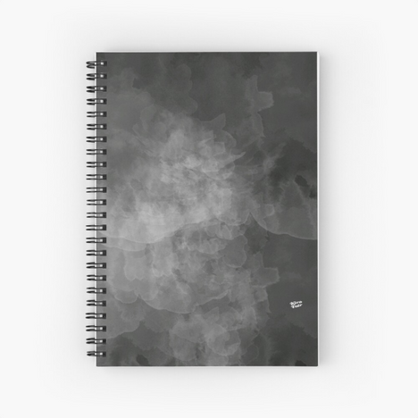 Concrete #grey #minimal #design #kirovair #decor #buyart Spiral Notebook