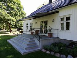 Terrassemarkise på Engø gård