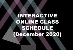 INTERACTIVE ONLINE CLASSES