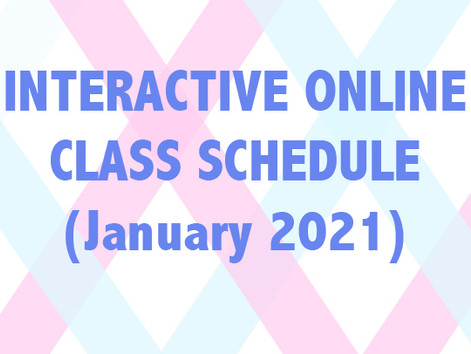 Interactive Online Class Schedule (January)