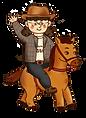 瓊瑤老師騎馬.png