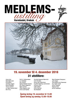 Plakat Drøbak kunstforening