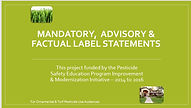 Mandatory, Advisory and Factual Label St