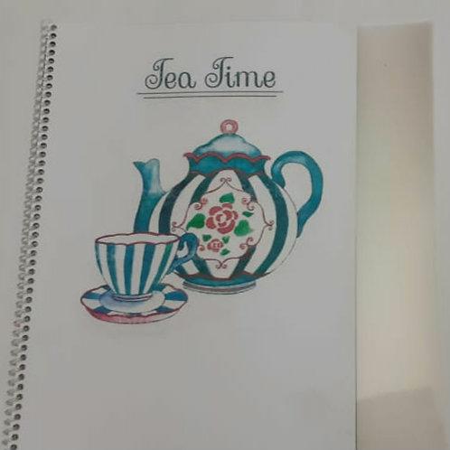 Apostila Hora do Chá +10 Placas Incolor
