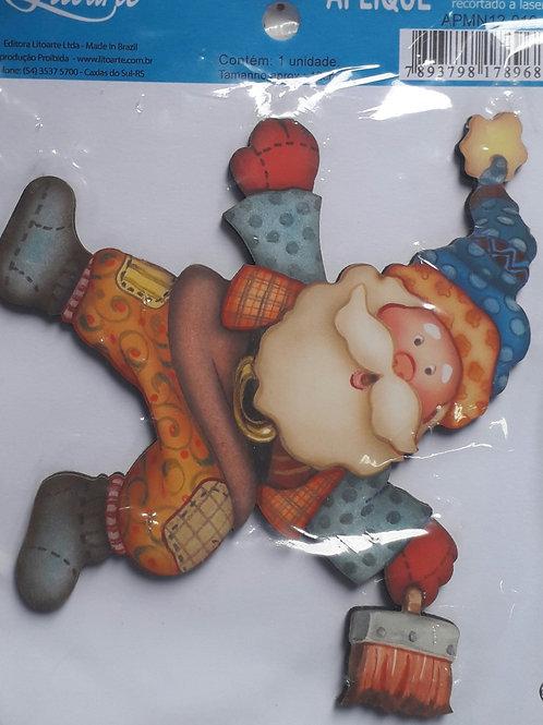 Aplique de Natal 06 - 12 cm em MDF da Litoarte.