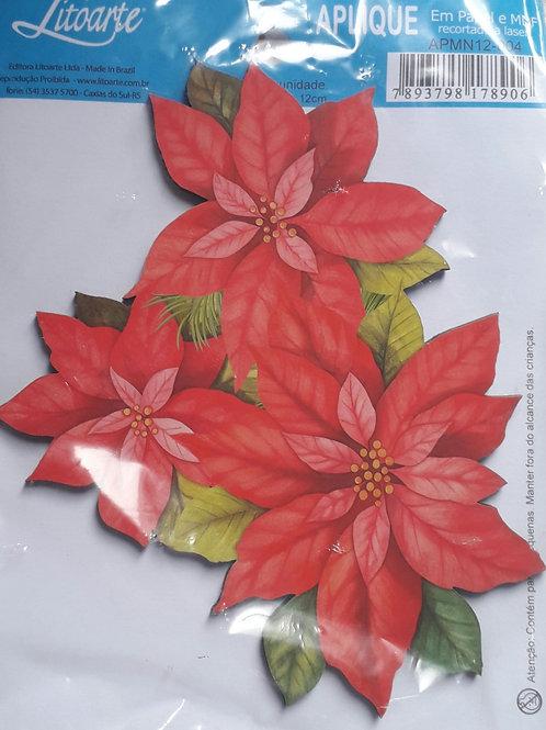 Aplique de Natal 08 - 12 cms de MDF da Litoarte.