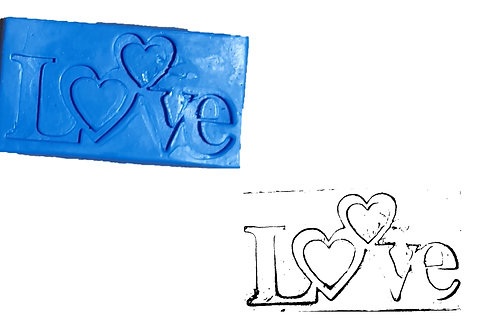 Ref. 030 –  MOLDE LOVE – medidas 5, 5 x 10 cm