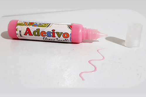 Unidade tinta adesivo colorido rosa
