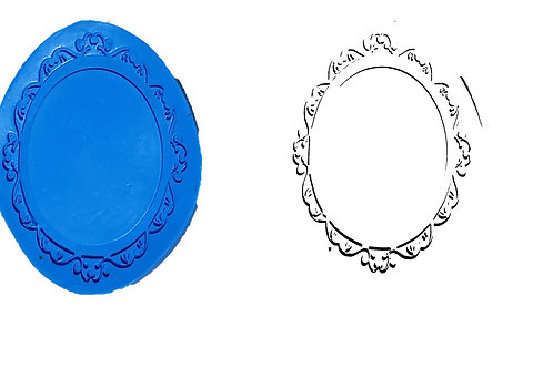 Ref.033 – Moldura Oval – 13 x 10 cm