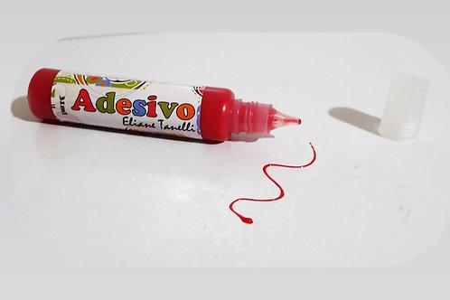 Unidade tinta adesivo colorido tomate